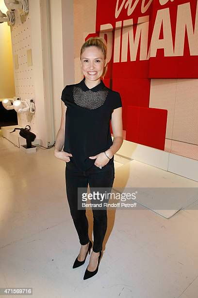 Actress Lilou Fogli attends the 'Vivement Dimanche' French TV at Pavillon Gabriel on April 29 2015 in Paris France