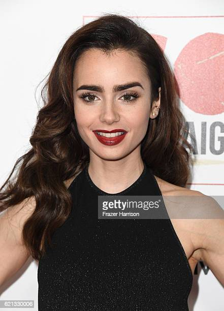 Actress Lily Collins arrives at the 10th Annual GO Campaign Gala at Manuela on November 5 2016 in Los Angeles California
