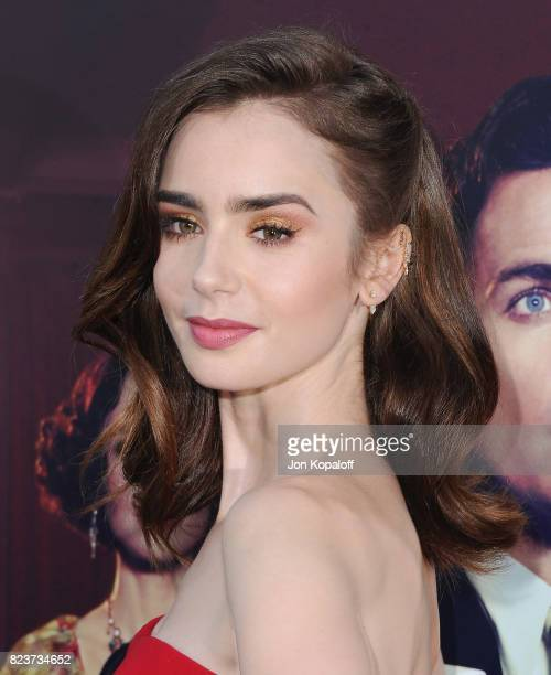 Actress Lily Collins arrives at the Premiere Of Amazon Studios' 'The Last Tycoon' at the Harmony Gold Preview House and Theater on July 27 2017 in...