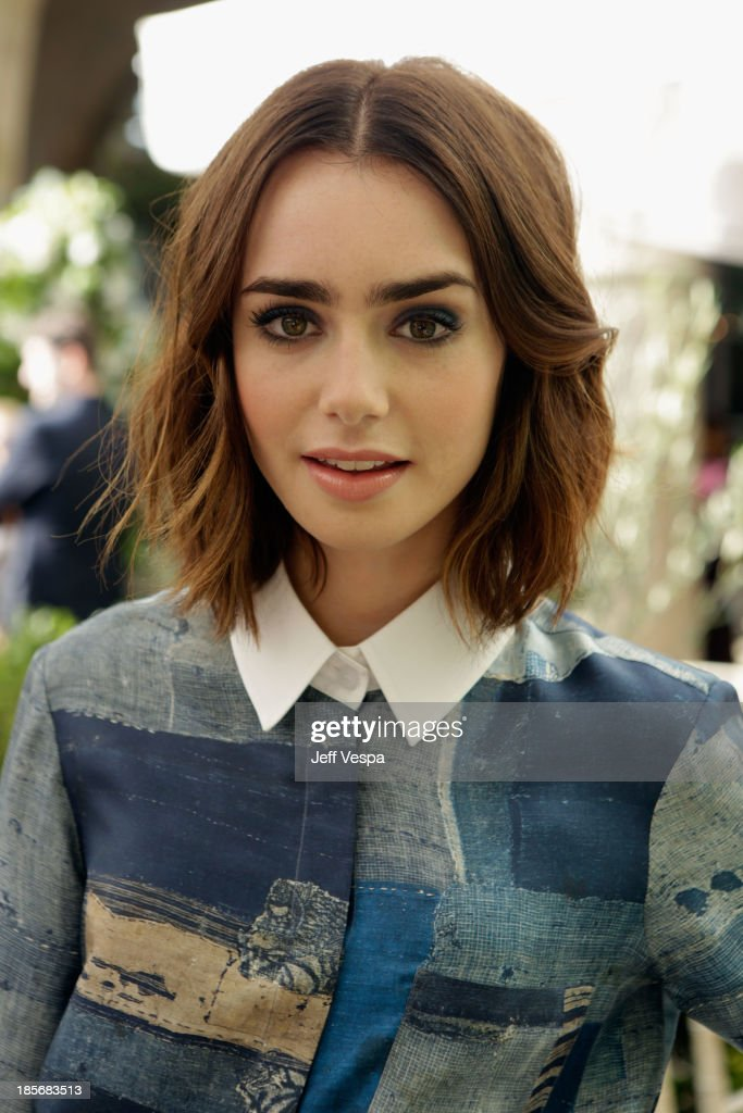 Actress <a gi-track='captionPersonalityLinkClicked' href=/galleries/search?phrase=Lily+Collins&family=editorial&specificpeople=3520243 ng-click='$event.stopPropagation()'>Lily Collins</a> attends the 2013 CFDA/Vogue Fashion Fund Event Presented by thecorner.com and Supported by Audi, Living Proof, and MAC Cosmetics at the Chateau Marmont on October 23, 2013 in Los Angeles, California.
