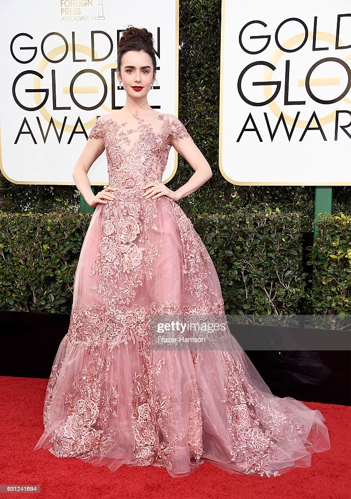 actress-lily-collins-attends-the-74th-annual-golden-globe-awards-at-picture-id631241694