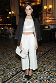 Actress Lily Collins attends the CFDA/Vogue Fashion Fund Dinner at Bouchon Beverly Hills on October 20 2015 in Beverly Hills California