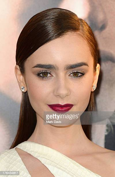 Actress Lily Collins attends the premiere of Screen Gems Constantin Films' 'The Mortal Instruments City of Bones' at ArcLight Cinemas Cinerama Dome...