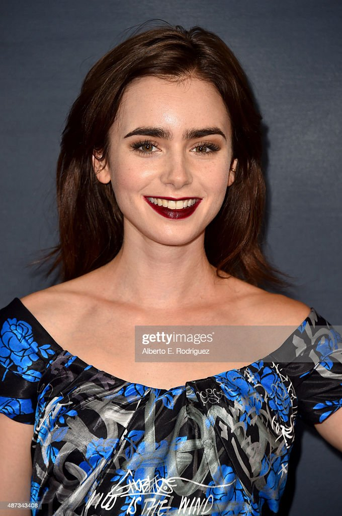 Actress <a gi-track='captionPersonalityLinkClicked' href=/galleries/search?phrase=Lily+Collins&family=editorial&specificpeople=3520243 ng-click='$event.stopPropagation()'>Lily Collins</a> attends the premiere of The Vladar Company's 'Jeremy Scott: The People's Designer' at TCL Chinese 6 Theatres on September 8, 2015 in Hollywood, California.