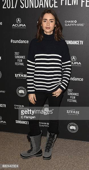 Actress Lily Collins attends the 'To The Bone' Premiere on day 4 of the 2017 Sundance Film Festival at Eccles Center Theatre on January 22 2017 in...