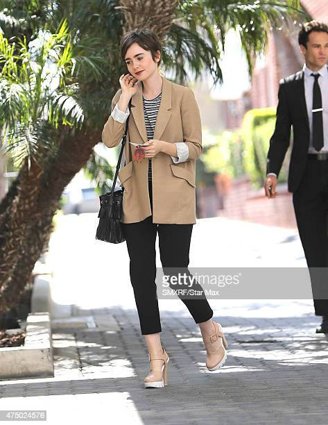 Actress Lily Collins is seen on May 28 2015 in Los Angeles California
