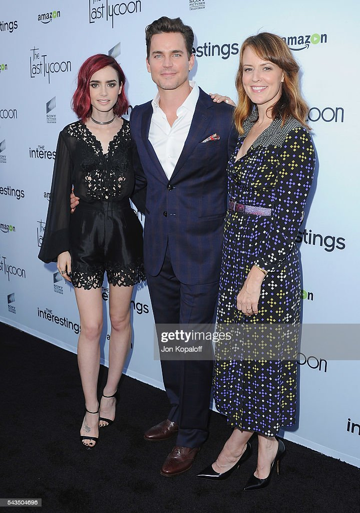 Actress Lily Collins, Matt Bomer and Rosemarie DeWitt arrive at Sony Pictures Television Social Soiree Featuring Amazon Pilots, 'The Last Tycoon' And 'The Interestings' at Sony Pictures Studios on June 28, 2016 in Culver City, California.