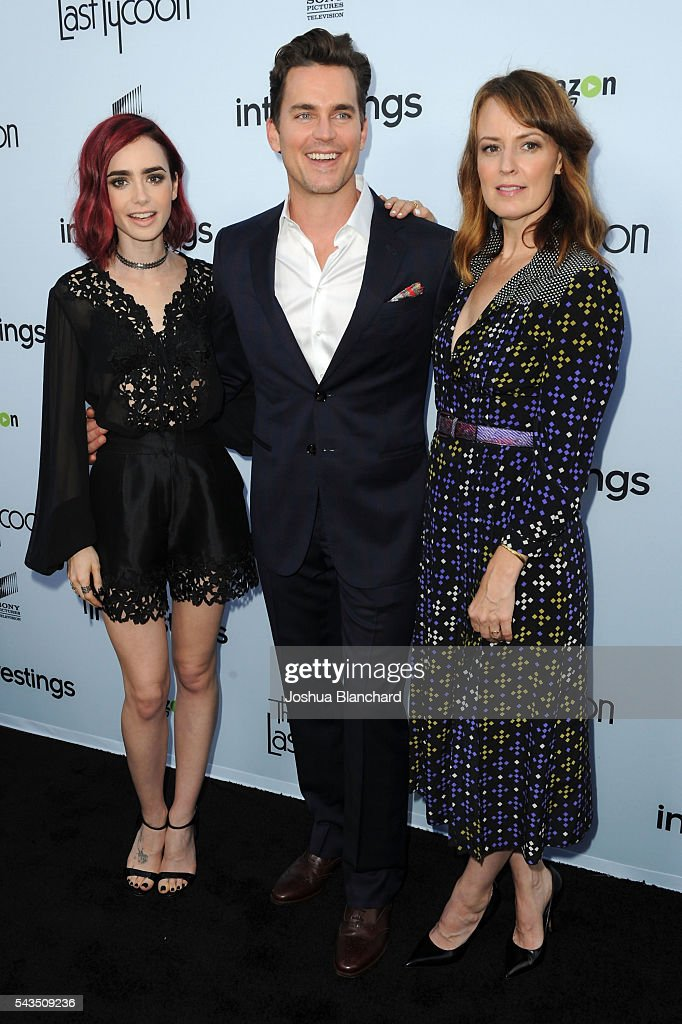 Actress Lily Collins Matt Bomer and Rosemarie DeWitt arrive at Sony Pictures Television Social Soiree featuring Amazon Pilots 'The Last Tycoon' and...