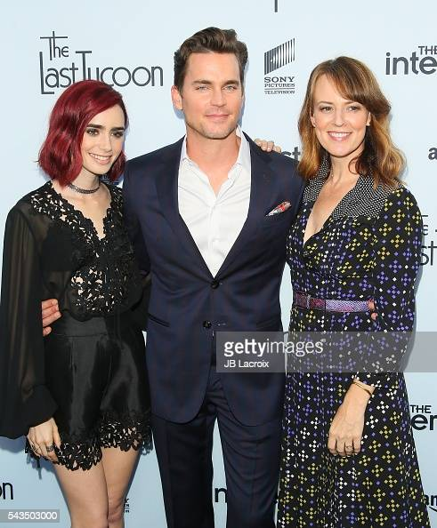 Actress Lily Collins Matt Bomer and Rosemarie DeWitt attend a Sony Pictures Television Social Soiree featuring Amazon pilots 'The Last Tycoon' and...