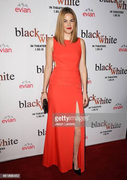 Actress Lily Costner attends the premiere of 'Black or White' at Regal Cinemas LA Live on January 20 2015 in Los Angeles California