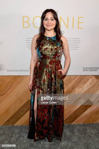 Actress Lily Gladstone attends the 2017 Film Independent Spirit Awards sponsored by American Airlines at the Santa Monica Pier on February 25 2017 in...