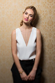 Actress Lily James is photographed for Los Angeles Times on March 2 2015 in Beverly Hills California PUBLISHED IMAGE CREDIT MUST READ Jay L...
