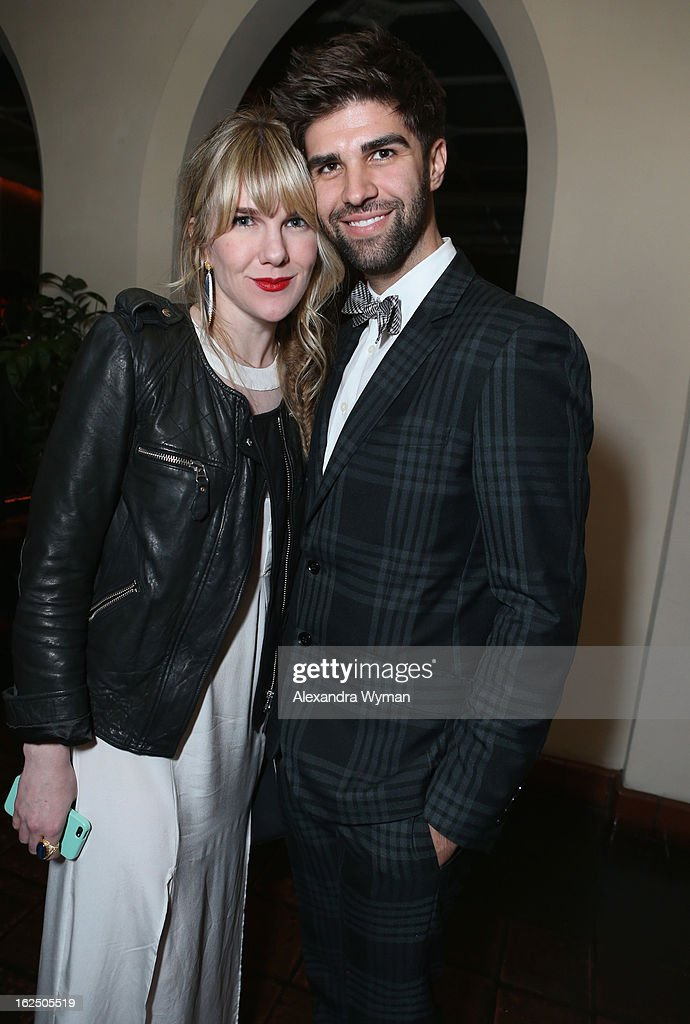 Actress <a gi-track='captionPersonalityLinkClicked' href=/galleries/search?phrase=Lily+Rabe&family=editorial&specificpeople=233506 ng-click='$event.stopPropagation()'>Lily Rabe</a> (L) and Justin Mikita attend GREY GOOSE Pre-Oscar Party hosted by Michael Sugar, Doug Wald, Nathan Kahane and Warren Zavala at Chateau Marmont on February 23, 2013 in Los Angeles, California.