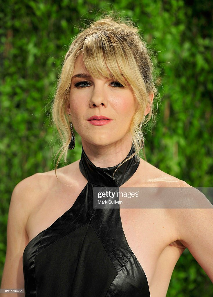 Actress Lily Rabe arrives at the 2013 Vanity Fair Oscar Party at Sunset Tower on February 24, 2013 in West Hollywood, California.