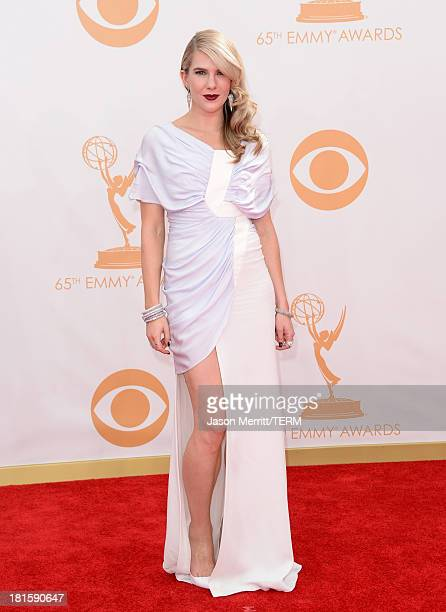 Actress Lily Rabe arrives at the 65th Annual Primetime Emmy Awards held at Nokia Theatre LA Live on September 22 2013 in Los Angeles California