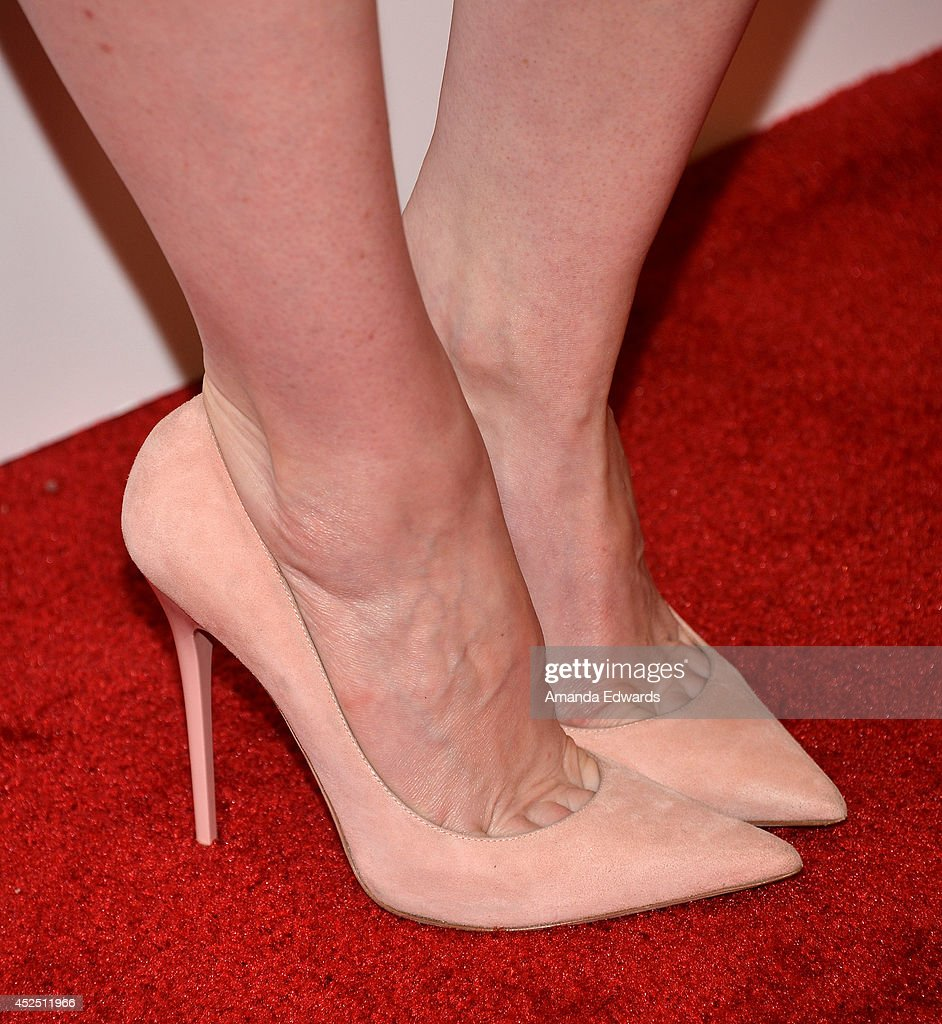 Actress Lily Rabe (shoe detail) arrives at the special Los Angeles screening of 'Magic In The Moonlight' at the Linwood Dunn Theater at the Pickford Center for Motion Study on July 21, 2014 in Hollywood, California.