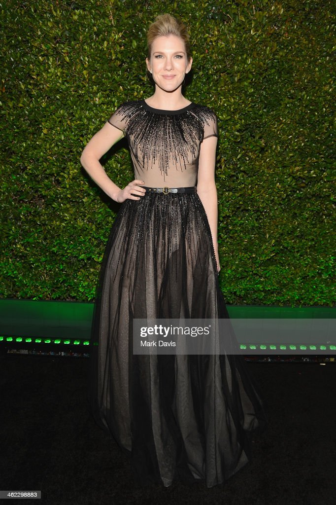 Actress <a gi-track='captionPersonalityLinkClicked' href=/galleries/search?phrase=Lily+Rabe&family=editorial&specificpeople=233506 ng-click='$event.stopPropagation()'>Lily Rabe</a> attends the Fox And FX's 2014 Golden Globe Awards Party on January 12, 2014 in Beverly Hills, California.