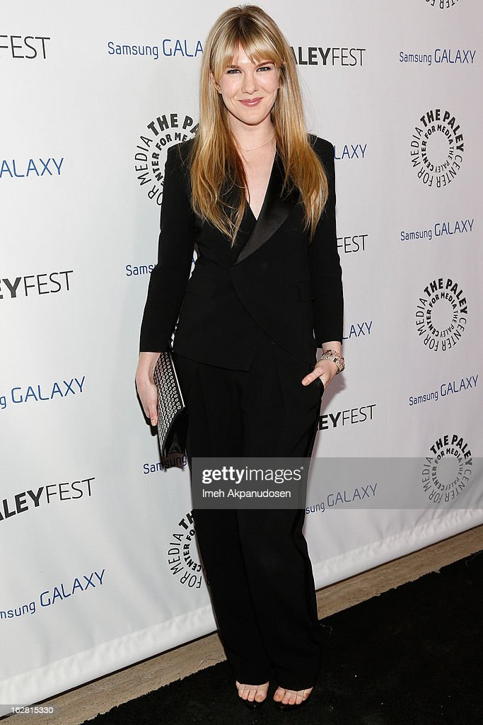 Actress <a gi-track='captionPersonalityLinkClicked' href=/galleries/search?phrase=Lily+Rabe&family=editorial&specificpeople=233506 ng-click='$event.stopPropagation()'>Lily Rabe</a> attends the Inaugural PaleyFest Icon Award honoring Ryan Murphy at The Paley Center for Media on February 27, 2013 in Beverly Hills, California.