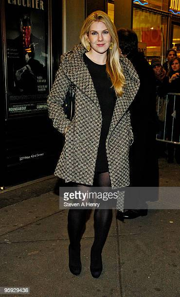 Actress Lily Rabe attends the opening night of 'Present Laughter' on Broadway at the American Airlines Theatre on January 21 2010 in New York City
