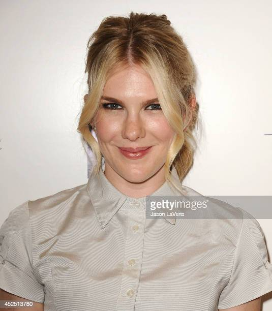 Actress Lily Rabe attends the premiere of 'Magic in the Moonlight' at Linwood Dunn Theater at the Pickford Center for Motion Study on July 21 2014 in...