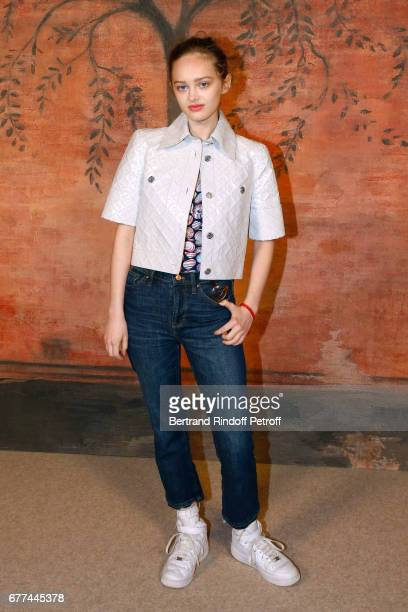 Actress Lily Taieb attends the Chanel Cruise 2017/2018 Collection Show Photocall Held at Grand Palais on May 3 2017 in Paris France