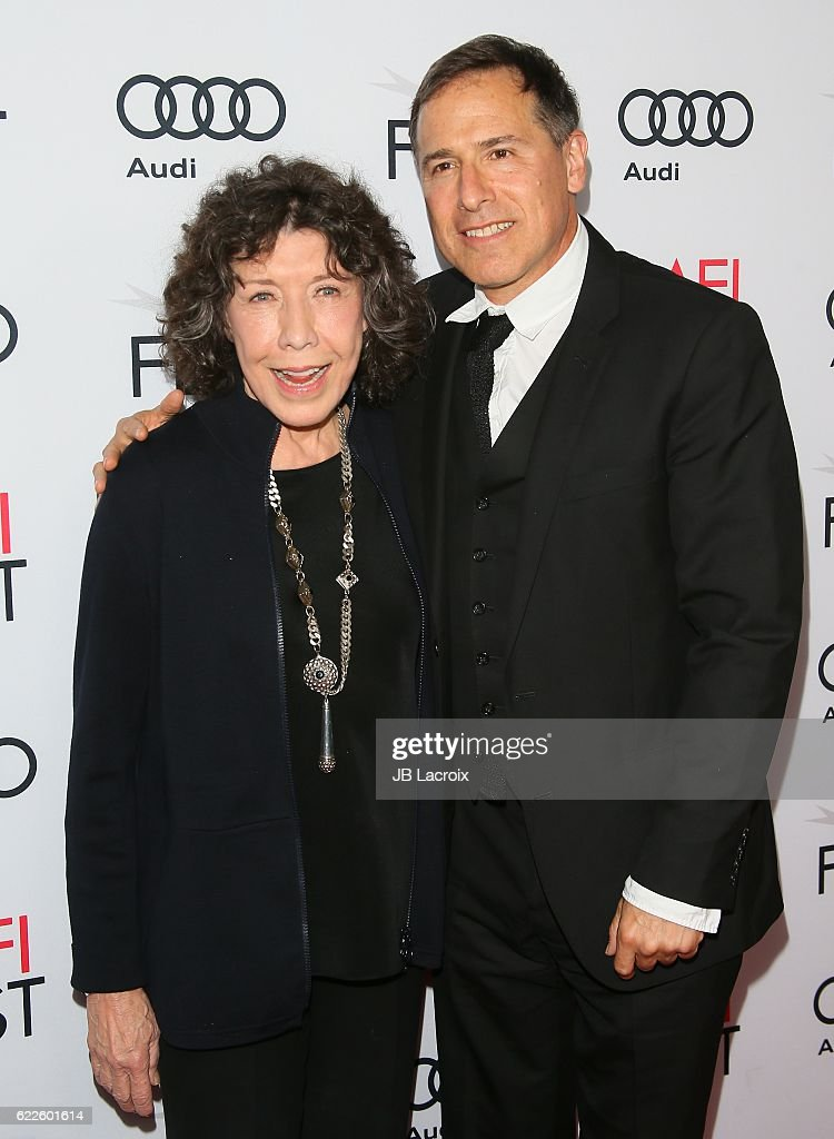 Actress Lily Tomlin and David O. Russell attend the premiere of Cinema's Legacy Conversation for 'Flirting With Disaster' at AFI Fest 2016, presented by Audi at TCL Chinese 6 Theatres on November 11, 2016 in Hollywood, California.