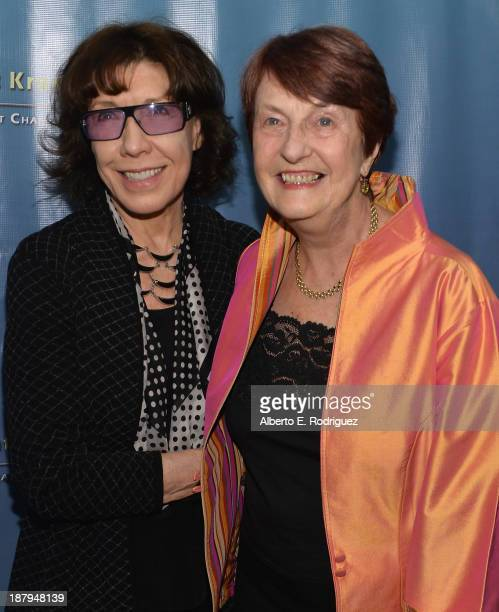 Actress Lily Tomlin and Dr Helen Caldicott attend the 5th anniversary of 'Kat Kramer's Films That Changed The World' featuring the North American...