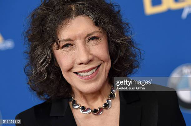 Actress Lily Tomlin arrives at the 68th Annual Directors Guild of America Awards at the Hyatt Regency Century Plaza on February 6 2016 in Los Angeles...