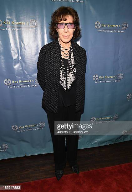 Actress Lily Tomlin attend the 5th anniversary of 'Kat Kramer's Films That Changed The World' featuring the North American premiere of 'Fallout' at...