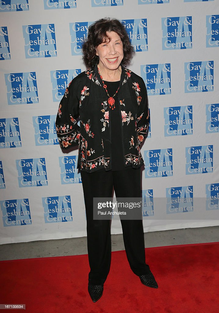 Actress <a gi-track='captionPersonalityLinkClicked' href=/galleries/search?phrase=Lily+Tomlin&family=editorial&specificpeople=208236 ng-click='$event.stopPropagation()'>Lily Tomlin</a> attends a 'Conversations With Coco' at the Gay & Lesbian Center on April 20, 2013 in Los Angeles, California.