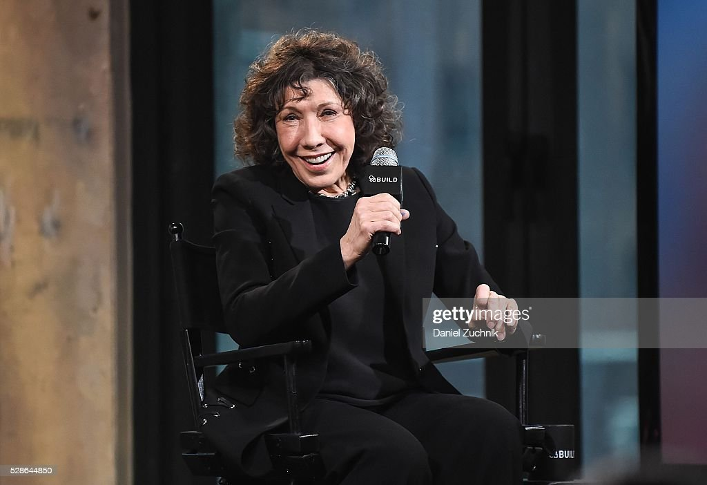 Actress Lily Tomlin attends AOL Build to discuss her show 'Grace And Frankie' on May 06, 2016 in New York, New York.