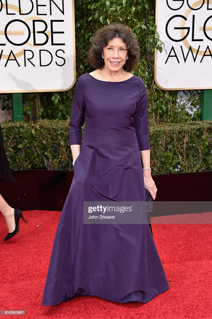 Actress Lily Tomlin attends the 73rd Annual Golden Globe Awards held at the Beverly Hilton Hotel on January 10 2016 in Beverly Hills California