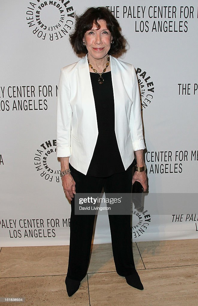 Actress <a gi-track='captionPersonalityLinkClicked' href=/galleries/search?phrase=Lily+Tomlin&family=editorial&specificpeople=208236 ng-click='$event.stopPropagation()'>Lily Tomlin</a> attends The Paley Center for Media's 2012 PaleyFest: Fall TV Preview Party for ABC at The Paley Center for Media on September 11, 2012 in Beverly Hills, California.