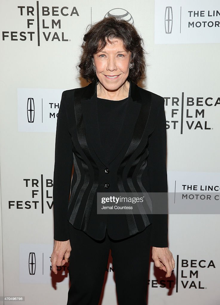Actress Lily Tomlin attends the Premiere of 'Grandma' during the 2015 Tribeca Film Festival at BMCC Tribeca PAC on April 20 2015 in New York City