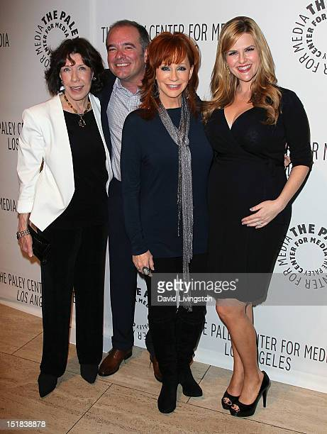 Actress Lily Tomlin executive producer Kevin Abbott and actresses Reba McEntire and Sara Rue attend The Paley Center for Media's 2012 PaleyFest Fall...