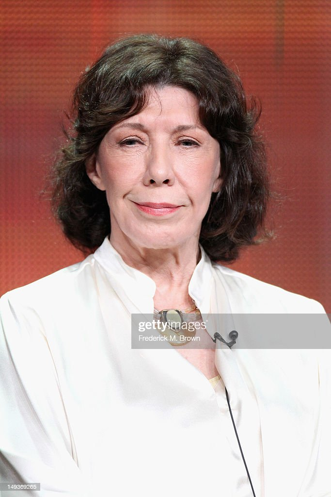Actress Lily Tomlin speaks onstage at the 'Malibu Country' panel during the Disney/ABC Television Group portion of the 2012 Summer TCA Tour on July...