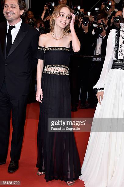 Actress LilyRose Depp attends the 'I Daniel Blake' premiere during the 69th annual Cannes Film Festival at the Palais des Festivals on May 13 2016 in...