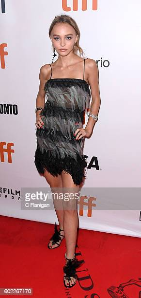 Actress LilyRose Depp attends the 'Planetarium' premiere during the 2016 Toronto International Film Festival at Roy Thomson Hall on September 10 2016...