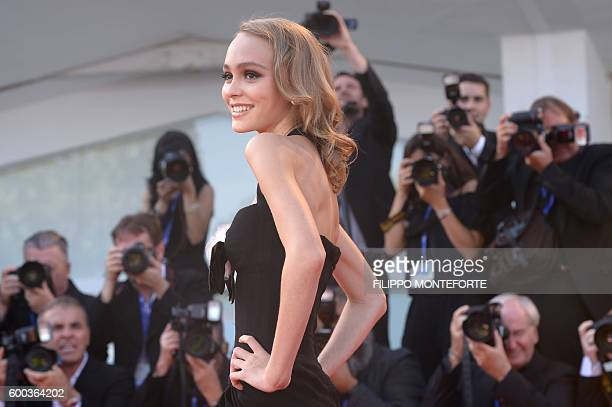 Actress LilyRose depp attends the Premiere of the movie 'Planetarium' presented out of competition at the 73rd Venice Film Festival on September 8...