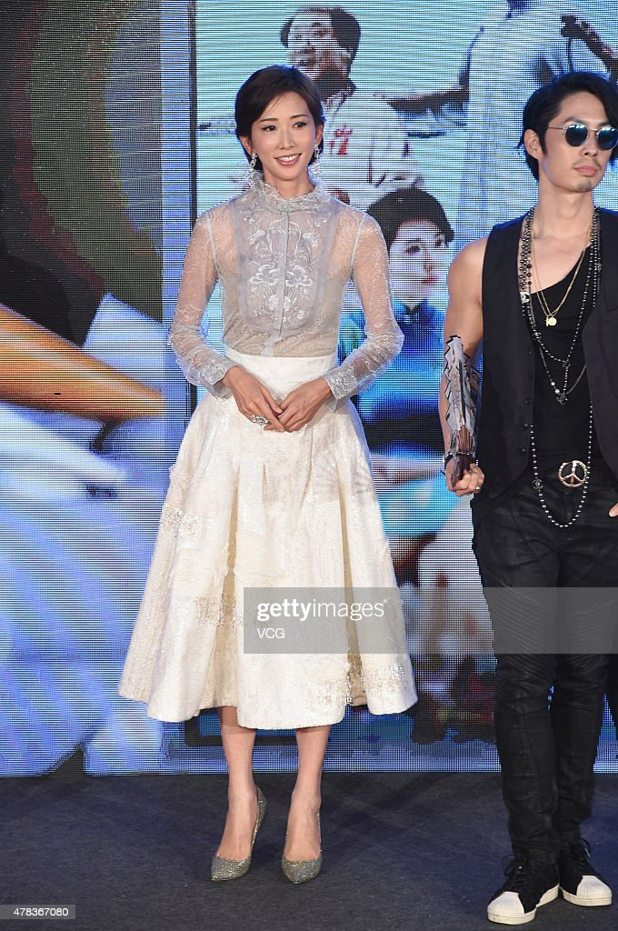 Actress Lin Chi-ling and singer and actor VanNess Wu arrive at red carpet of 'China Film New Power' on June 24, 2015 in Beijing, China.
