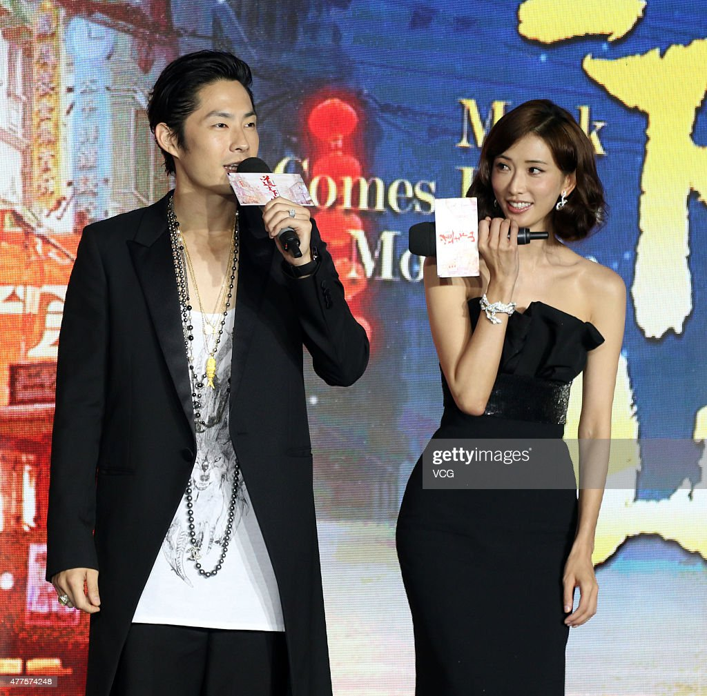 Actress Lin Chi-ling and singer and actor VanNess Wu attend director Kaige Chen's new movie 'Monk Comes Down The Mountain' press conference during the 18th Shanghai International Film Festival on June 18, 2015 in Shanghai, China.