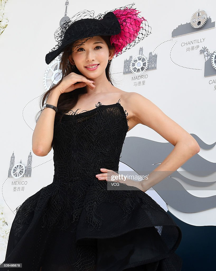 Actress Lin Chi-ling attends an Equestrian event on April 30, 2016 in Shanghai, China.