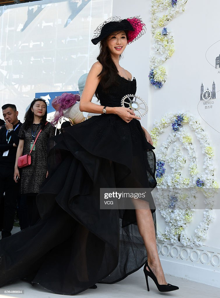 Actress <a gi-track='captionPersonalityLinkClicked' href=/galleries/search?phrase=Lin+Chi-ling&family=editorial&specificpeople=2965118 ng-click='$event.stopPropagation()'>Lin Chi-ling</a> attends an Equestrian event on April 30, 2016 in Shanghai, China.
