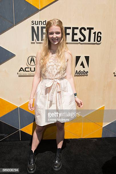 Actress Lina Keller arrives at the Sundance Next Fest premiere of 'Morris From America' at The Theatre At The Ace Hotel on August 13 2016 in Los...