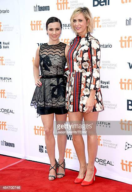 Actress Linda Cardellini and producer/actress Kristen Wiig attend the 'Welcome To Me' premiere during the 2014 Toronto International Film Festival at...