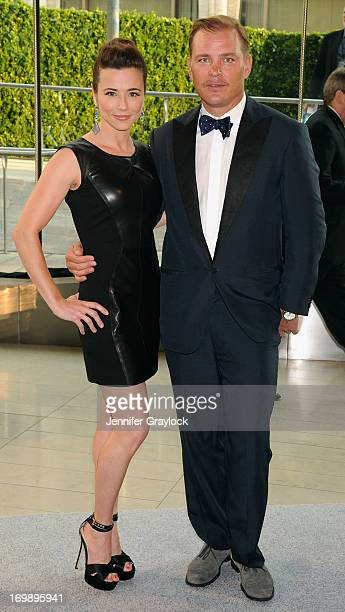 Actress Linda Cardellini and Shane Baum attend 2013 CFDA FASHION AWARDS underwritten by Swarovski at Lincoln Center on June 3 2013 in New York City