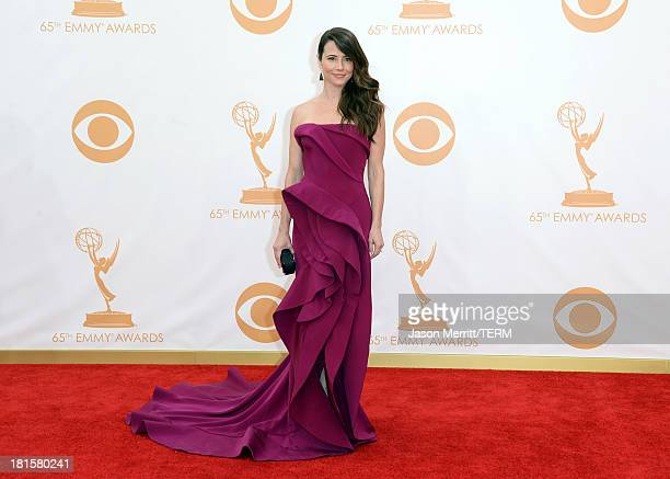 Actress Linda Cardellini arrives at the 65th Annual Primetime Emmy Awards held at Nokia Theatre LA Live on September 22 2013 in Los Angeles California