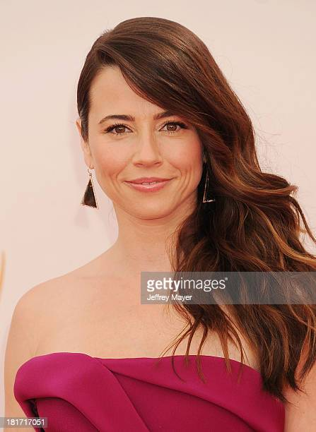 Actress Linda Cardellini arrives at the 65th Annual Primetime Emmy Awards at Nokia Theatre LA Live on September 22 2013 in Los Angeles California