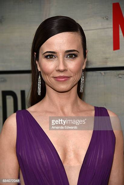 Actress Linda Cardellini arrives at the premiere of Netflix's 'Bloodline' at The Landmark Regent Theater on May 24 2016 in Westwood California