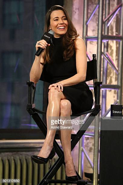 Actress Linda Cardellini attends AOL BUILD Series Linda Cardellini 'Daddy's Home' at AOL Studios In New York on December 14 2015 in New York City